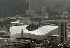 Stade Vélodrome depuis Notre-Dame de la Garde à Marseille... Reynald ARTAUD (Reynald ARTAUD) Tags: 2018 août provence marseille stade vélodrome depuis notredame garde reynald artaud