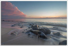 Sunrise (richpope) Tags: sky sea shore beach waves wash sunrise sandyhook newjersey jerseyshore gatewaynationalrecreationarea nationalgeographic