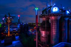 LaPaDu at Night - Duisburg, Ruhr Area (dejott1708) Tags: lapadu duisburg ruhrarea longexposure nightshot industry illuminated bluehour