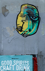 HH-Wheatpaste 3806 (cmdpirx) Tags: hamburg germany reclaim your city urban street art streetart artist kuenstler graffiti aerosol spray can paint piece painting drawing colour color farbe spraydose dose marker stift kreide chalk stencil schablone wall wand nikon d7100 paper pappe paste up pastup pastie wheatepaste wheatpaste pasted glue kleister kleber cement cutout