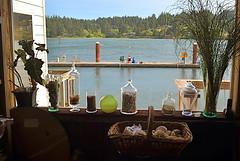 That Day Down At The Dock (MPnormaleye) Tags: dock dockside pier waterway bay lake ocean seaside window utata 24mm