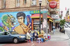 Straßenmusiker in Chinatown (dirklie65) Tags: california streetart wandbild chinatown strasenmusiker sanfrancisco