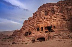 Dusk in Petra (Kristiina Aksberg) Tags: petra history unesco travel jordan sunset dusk sky archaeology