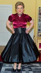Birgit027203 (Birgit Bach) Tags: blouse bluse satin fullskirt glockenrock taffeta taft petticoat