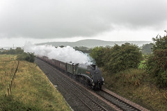 A wet day out (4486Merlin) Tags: 60009 england europe exlner lnerclassa4 northwest railways steam streak transport unionofsouthafrica unitedkingdom huxley cheshire gbr crowsnestbridge cheshireman rytc wcrc