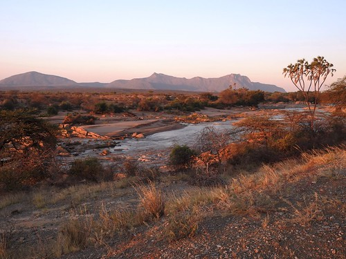 8575ex2 the Ewaso Ngiro River at sunset