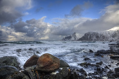 Weather (Joost10000) Tags: lofoten islands norway lapland europe norge noorwegen norwegen ramberg sea ocean waves wild winter wilderness mountain mountains snow atlantic outdoors cold chill canon canon5d eos arctic travel adventure