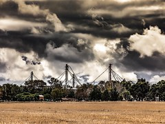 In Front Of Me A Great Storm And In Solitude I Smile, Because I Will Have Another Photograph. (Ramiro Francisco Campello) Tags: viaje travel day smile silos campo argentina buenosaires grenuol ramirofranciscocampello bahiablanca coroneldorrego paisaje landscape nubes clouds cloud tormenta cielo storm sky