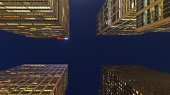 Skyscrapers (sonic182) Tags: new york city usa united states america usa2018 midtown manhattan skyscraper skyscrapers looking up corners blue hour evening dusk night