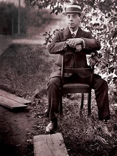 A Dapper Gentleman -- about 1900