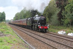 LMS Stanier 8F No. 48151 with West Coast Railways 1Z50 'The Brief Encounter' passing Bamber Bridge on the old Lancashire & Yorkshire Railway towards Blackburn on 15-9-18 © (steamdriver12) Tags: br stanier 8f no 48151 west coast railways 1z50 the brief encounter bamber bridge 15918 lancashire steam smoke coal oil heritage preservation england