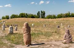 Burana, Kyrgyzstan (Ninara) Tags: bishkek kyrgyzstan burana kurgan balbal statue stone cemetary menhir balasagun petroglyph rockart