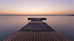 (R.Weinerowski) Tags: sunrise seascape sea longexposure pier greece ellada corfu