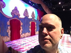 Day 2406: Day 216: The set and me (knoopie) Tags: 2018 august iphone picturemail theater disenchated doug knoop knoopie me selfportrait 365days 365daysyear7 year7 365more day2406 day216