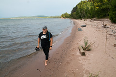 (Jeremy Whiting) Tags: michigan canon digital color great lakes up north upper peninsula yooper vacation summer midwest wander christmas bay furnace beach campground national forest water sand superior lake nike wife love
