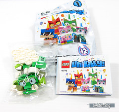 A closer look at the opened content from a sealed packet (WhiteFang (Eurobricks)) Tags: lego bind bags unikitty series 1 brick built animals kitty puppy box colourful vibrant sunshine cheerful fun pink