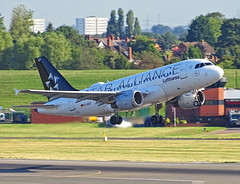 D-AILF Airbus A319 of Lufthansa (SteveDHall) Tags: aircraft airport aviation airfield aerodrome aeroplane airplane airliner airliners birmingham birminghamairport bhx 2018 dailf a319 airbusa319 airbus lufthansa lh dlh staralliance specialcolourscheme