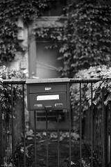 Overgrown Postbox (RunnyInHongKong) Tags: vuescan nikoncoolscan9000 nikkor50mmf14g film blackwhite kodaktmax400 nikonf100 japan tokyo minatoku