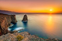 Giants war (juapero) Tags: paisaje farallón grancanaria canaryisland islascanarias juapero landscape sunset atardecer
