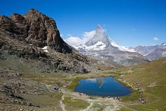 Horu (Marcel Cavelti) Tags: mk34980bearb matterhorn zermatt swiss alps switzerland mountain lake summer hiking trail