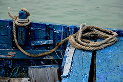 The Old Blue Boat (acwills2014) Tags: blue boat rustic textures grain ropes tidedup paint worn old mature character distressed shoreline