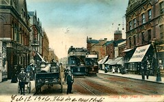 Tooting High Street, London (circa 1906) (The Wright Archive) Tags: tooting high street london vintage postcard 1906 edwardian uk trams stengerandco publisher londonscene lostlondon social history localhistory tram londonstreet