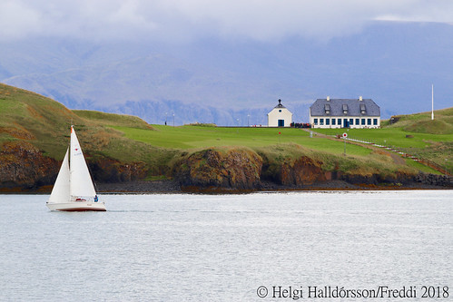 Sailing from the city centre to Viðey