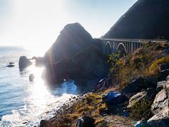 Big Creek Bridge and Big Creek Cove Beach - Big Sur, CA (Jun C Photography) Tags: bigsur olympus microfourthirds omd mkii sandiego hwy1 u43 californiacoast em5 coastal markii coastaldrive mk2 mft