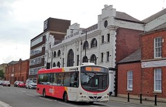 Bury (Andrew Stopford) Tags: yj07pco volvo b7rle wright eclipse transdev rosso rossendaletransport bury lancashireunited wetherspoons theartpicturehouse