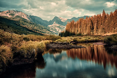Colorado: Upper Piney River Trail. (icarium.imagery) Tags: rockymountains colorado usa piney river canoneos5dmarkiv sigma24105mmf4dgoshsmart water reflection forest mountains landscape cinematic vibrant captureone travel hiking trail