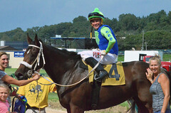 "2018-08-31 (79) r5 Wesley Ho on #4 Ghost Affair for the win (JLeeFleenor) Tags: photos photography maryland marylandracing timonium mdstatefair fair horseracing outside outdoors jockey جُوكِي ""赛马骑师"" jinete ""競馬騎手"" dżokej jocheu คนขี่ม้าแข่ง jóquei žokej kilparatsastaja rennreiter fantino ""경마 기수"" жокей jokey người horses thoroughbreds equine equestrian cheval cavalo cavallo cavall caballo pferd paard perd hevonen hest hestur cal kon konj beygir capall ceffyl cuddy yarraman faras alogo soos kuda uma pfeerd koin حصان кон 马 häst άλογο סוס घोड़ा 馬 koń лошадь"
