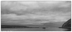 Heading Out Overcast Day (lorinleecary) Tags: california sandspit harborentrance morrorock monochrome harbor silverefexpro2 boats blackandwhite morrobay clouds
