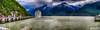 Parked in Skagway (gvonwahlde) Tags: exploreroftheseas skagway alaska alaskacruise cruising harbor dock mountains port ship hdr panorama pano niksoftware vonwahlde royalcaribbean