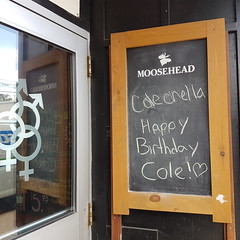Colechella (Coastal Elite) Tags: colechella halifax novascotia pun play words happy birthday cole menz mollyz bar gottingen northend blackboard chalk chalkboard message funny coachella moosehead