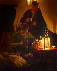 Candlelight Historic Fort Vancouver 1274 B (jim.choate59) Tags: candlelight candle historical fortvancouver jchoate on1pics d610 reenactment 1840s nurse infirmary medical frontier hudsonbay night