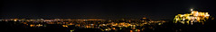 Panoramic View of Athens from Acropolis Hill at Night (powertigervfx123) Tags: athens greece travel traveldestination tourism touristattraction nightscape scenic colors vivid contrast panorama city night lights
