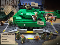 The Motor Pool: The MOBAT (2 of 4) (TJW Art) Tags: gijoe mobat hasbro toyphotography toys tankbattle tank kreo lego legophotography