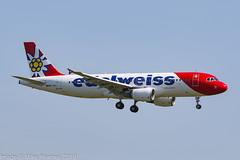 HB-JJL - 2005 build Airbus A320-214, inbound to Zurich (egcc) Tags: 2606 a320 airbus b6261 dabnv edw edelweiss edelweissair hbjjl kloten lszh lightroom switzerland wk zrh zurich a320214
