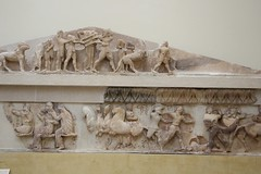 Frieze (demeeschter) Tags: greece delphi archaeological heritage historical ruins unesco parnassus mount ancient oracle museum art theatre stadium temple apollo