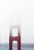 Golden Gate Bridge in Summer Morning Fog