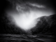 Ethereal Light (Feldore) Tags: faroeislands faroe saksun fog foggy mist misty landscape moody mono light ethereal spiritual feldore mchugh em1 olympus 1240mm mountains clouds
