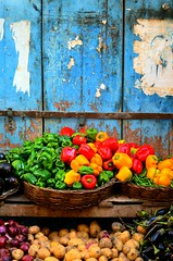 Variety (Ghada Elchazly) Tags: egypt alex colors colorful vegetables photo photography photostream photos ilovephotography nikon streetphotography walls everydayphoto blue market