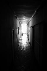 Corridor (sebastienvillain) Tags: fujifilm fuji fujifeed xe2 xseries xf18mm noiretblanc noir blanc blackandwhite black white bw nb monochrome couvent marseille marseilles expo exposition artwork corridor couloir