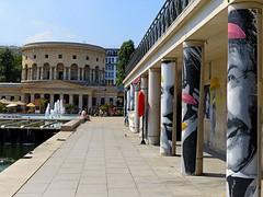 Galerie et Rotonde (Raymonde Contensous) Tags: paris canaldelourcq placebatailledestalingrad collages urbanart streetart rotonde