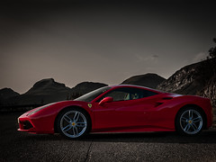Fast Car (Northernphoto) Tags: ferrari 488 gtb northernphoto norway fast car red primary troms tromsø sovende soldat