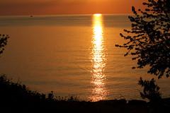 Sunset Reflection (craigsanders429) Tags: sunsetphotography sunsets sunset sunsetcolors water lakeerie lakeerieinohio lakes sun waterways greatlakes reflection reflectionphotography