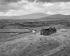 Lubnaclach Cottage on Rannoch Moor (Joe Dunckley) Tags: alltnacaim britain british corrour greatbritain highland highlands lochaber lubnaclach lubnaclachcottage rannochmoor scotland scottish scottishhighlands uk unitedkingdom westhighlands aerialview architecture birdseyeview bog building cottage derelict droneshot fromabove house isolated isolation landscape me moor moorland mountain myfamily nature outdoors peatbog remote river ruin ruins selfie water wetland wilderness