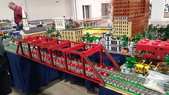 "MichLUG at State Fair set up 2018-08-28 (13) (""MOOSE"") Tags: michigan michlug michiganlegotrainclub marthamarychapel lego layout state fair 2018 bricks blocks"