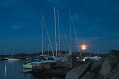 Moored at Dannemark (Per-Karlsson) Tags: sailboat sail moored mooring yatchts anchored sweden bohuslän swedishwestcoast sea seascape night moon