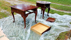 1. Remove furniture hardware and clean. (osiristhe) Tags: cellphone painting furniture decor
